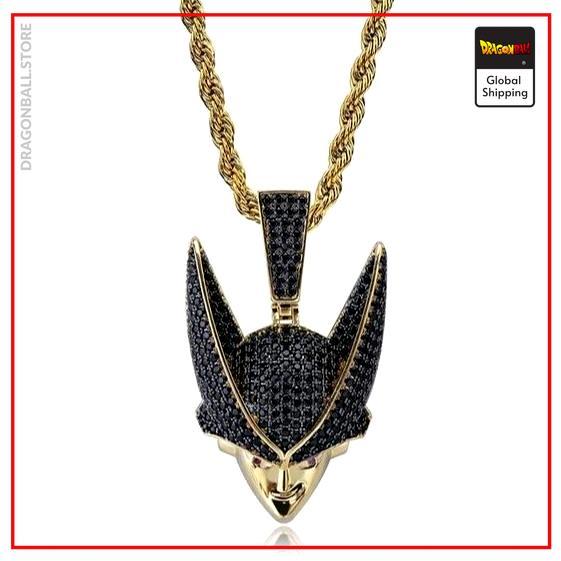 Dragon Ball Z Necklace Cell Gold plated / Diamonds 4mn / 50 CM Official Dragon Ball Z Merch