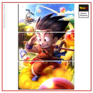 Wall Art Canvas Dragon Ball Sangoku Small Small - 30x45 cm (x3) / Without frame Official Dragon Ball Z Merch