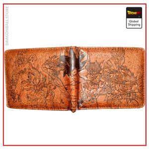 Dragon Ball Z Saiyans Wallet Light Leather Official Dragon Ball Z Merch