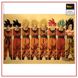 Dragon Ball Z Poster Sangoku Default Title Official Dragon Ball Z Merch
