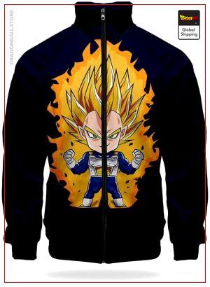 DBZ Jacket Vegeta Super Saiyan XS Official Dragon Ball Z Merch