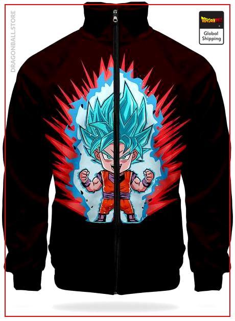 DBZ Track Jacket Goku SSJ Blue XS Official Dragon Ball Z Merch