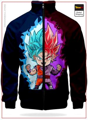 DBS Track Jacket Goku Blue & Zamasu XS Official Dragon Ball Z Merch