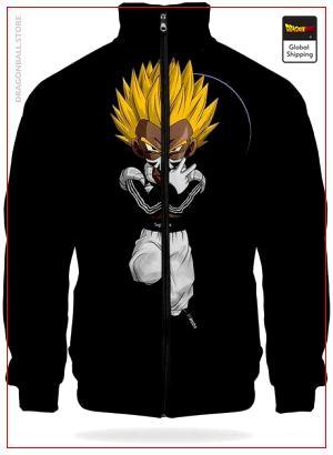 DBZ Track Jacket Black Saiyan XS Official Dragon Ball Z Merch