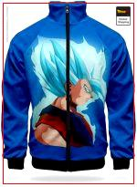 DBZ Jacket Goku Super Saiyan Blue XS Official Dragon Ball Z Merch