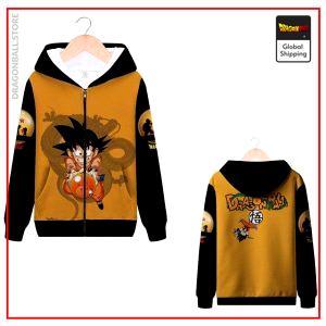 DBZ Zip Sweatshirt Goku Small MQX 1059 / S Official Dragon Ball Z Merch