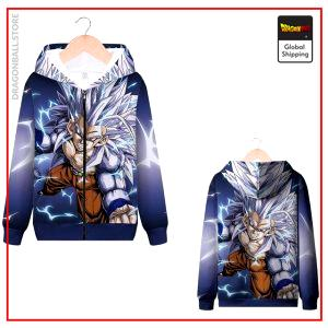 DBZ Zip Sweatshirt Vegeta SSJ4 MQX 1060 / S Official Dragon Ball Z Merch