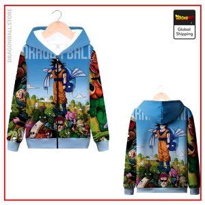 DBZ Zip Sweatshirt Goku Epic MQX 1065 / S Official Dragon Ball Z Merch