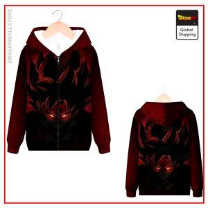 DBZ Zip Sweatshirt Bad Saiyan MQX 1066 / S Official Dragon Ball Z Merch