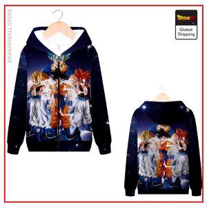 DBZ Zip Sweatshirt Goku Transformations MQX 1069 / S Official Dragon Ball Z Merch