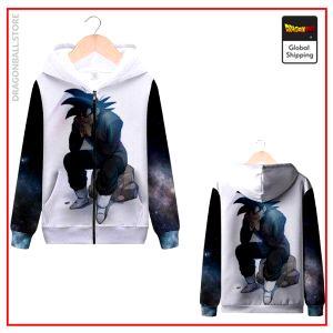 DBZ Zip Sweatshirt Goku Black MQX 1070 / S Official Dragon Ball Z Merch