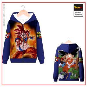DBGT Zip Sweatshirt Sangoku MQX 1004 / S Official Dragon Ball Z Merch
