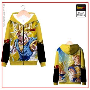 DBZ Fusion Saiyan Zip Sweatshirt MQX 1048 / S Official Dragon Ball Z Merch