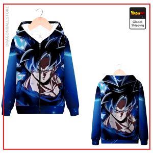 DBS Zip Sweatshirt Goku Ultra Instinct MQX 1037 / S Official Dragon Ball Z Merch