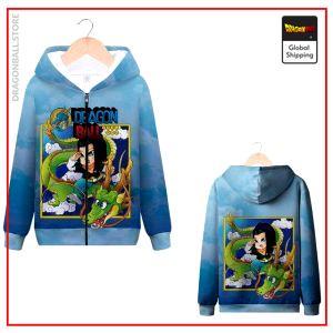 DBZ Zip Sweatshirt C-17 & Shenron MQX 1045 / S Official Dragon Ball Z Merch