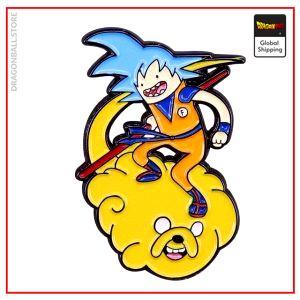Dragon Ball Z pin Goku Adventure Time Default Title Official Dragon Ball Z Merch