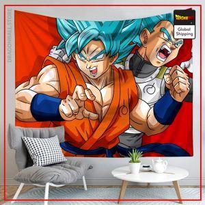 Dragon Ball Canvas Vegeta & Goku Blue 3 / 90x75cm Official Dragon Ball Z Merch