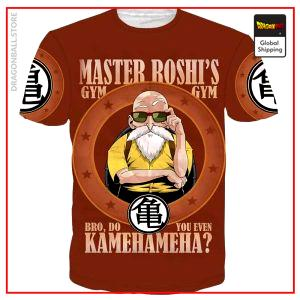 Dragon Ball Z T-Shirt  Roshi Gym Beige / S Official Dragon Ball Z Merch