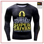 T-Shirt Compression Long Super Saiyan S Official Dragon Ball Z Merch