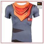 Compression T-Shirt  Cyborg Menacing L Official Dragon Ball Z Merch