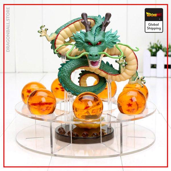 DBZ Figure  Shenron Crystal Balls Green Shenron - Orange Balls Official Dragon Ball Z Merch