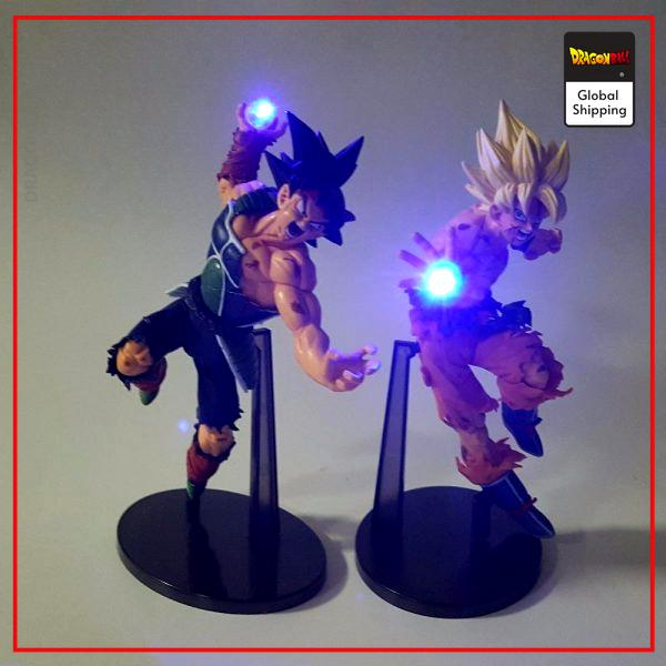 Dragon Ball Goku SSJ1 and Bardock LED Figure Goku & Bardock Official Dragon Ball Z Merch