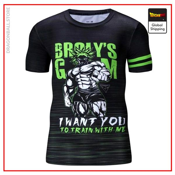 Compression T-Shirt  Broly Gym S Official Dragon Ball Z Merch