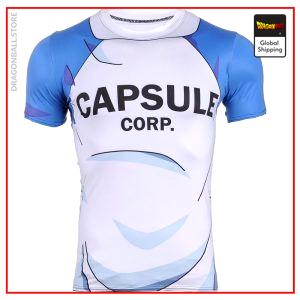 Compression T-Shirt  Capsule Corp L Official Dragon Ball Z Merch