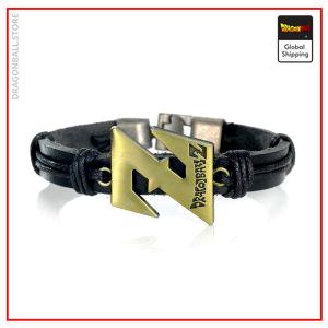 Dragon Ball Z bracelet (Black leather) Default Title Official Dragon Ball Z Merch