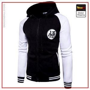 DBZ Hooded Jacket Kanji Go (Black & White) S Official Dragon Ball Z Merch
