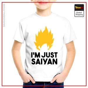 T-Shirt DBZ Child  I'm Just Saiyan 3 years Official Dragon Ball Z Merch