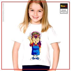 DBZ Child T-Shirt  Arale Konnichiwa 3 years Official Dragon Ball Z Merch