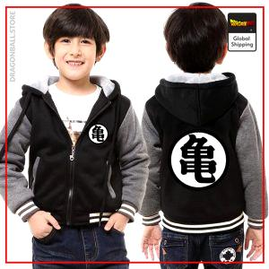 "DBZ Kids Jacket Kanji ""Kame"" Black & Grey / 3 years Official Dragon Ball Z Merch"
