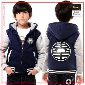 "DBZ Kid Jacket  Kanji ""Kaio"" Blue & White / 3 years Official Dragon Ball Z Merch"