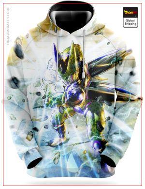 Dragon Ball Z Sweatshirt  Cell Perfect Shape S Official Dragon Ball Z Merch