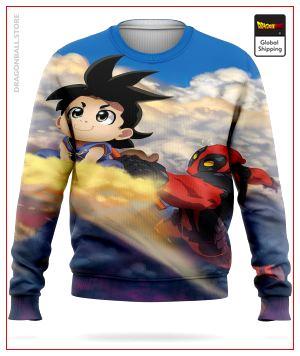 Dragon Ball Sweater  Goku & Deadpool S Official Dragon Ball Z Merch