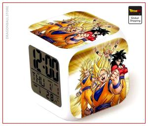 Dragon Ball Alarm Clock Goku Transformation Default Title Official Dragon Ball Z Merch