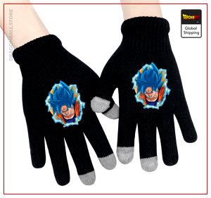 Dragon Ball Super Gloves Goku Blue Default Title Official Dragon Ball Z Merch