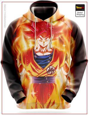 Dragon Ball Super Sweatshirt  Goku Super Saiyan God S Official Dragon Ball Z Merch