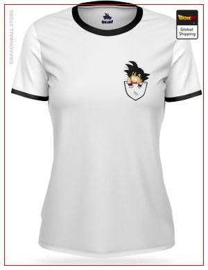 T-Shirt DBZ Woman  Goku Pocket Black / S (L Japanese size) Official Dragon Ball Z Merch