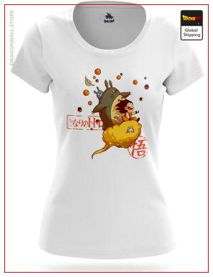 T-Shirt DBZ Woman  Goku and Totoro S (L Japanese size) Official Dragon Ball Z Merch