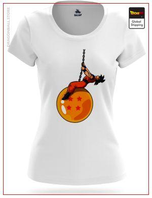 T-Shirt DBZ Woman  Goku Wrecking Ball S (L Japanese size) Official Dragon Ball Z Merch