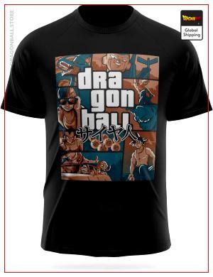 Dragon Ball Z T-Shirt Grand Theft Auto (GTA) Black / XS Official Dragon Ball Z Merch