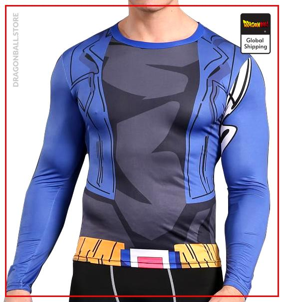 Long Compression T-Shirt  Overpowering Trunks S Official Dragon Ball Z Merch