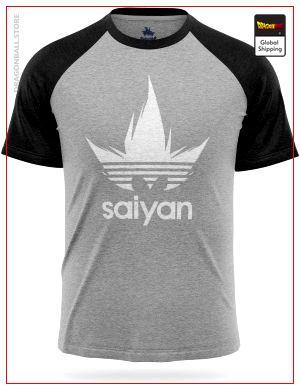 Dragon Ball Z T-Shirt Adidas Saiyan Grey White / S Official Dragon Ball Z Merch