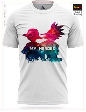 Dragon Ball Z T-Shirt Goku & Luffy Heroes S Official Dragon Ball Z Merch