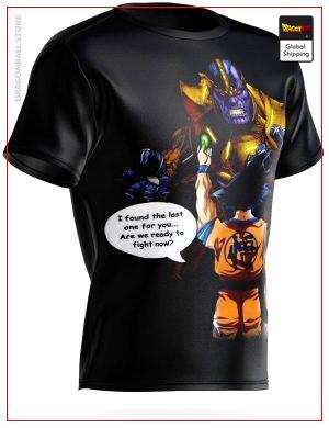 Dragon ball T-Shirt Goku vs Thanos S Official Dragon Ball Z Merch