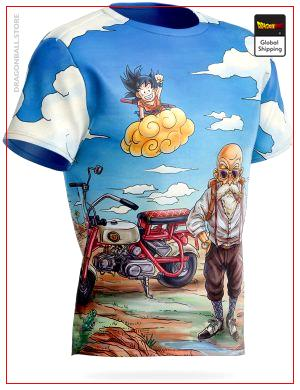 Dragon Ball Z T-Shirt Goku & Kame Sennin S Official Dragon Ball Z Merch