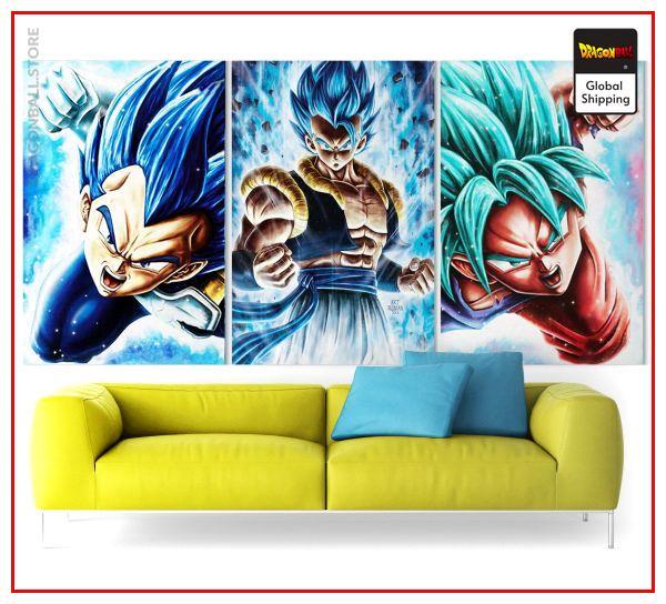 Wall Art Canvas Dragon Ball Vegeto Small - 30x45 cm (x3) / Without frame Official Dragon Ball Z Merch