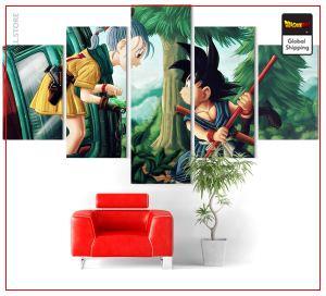 Wall Art Canvas Dragon Ball Z  Goku Small and Bulma Small Official Dragon Ball Z Merch